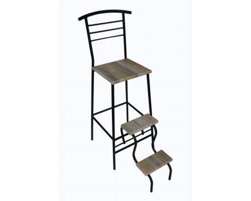 Барный стул стремянка d16 мм дуб сонома