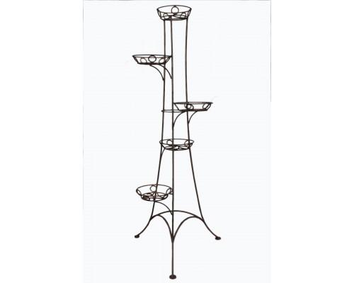 Кованая подставка ручной работы Башня 5 вазонов