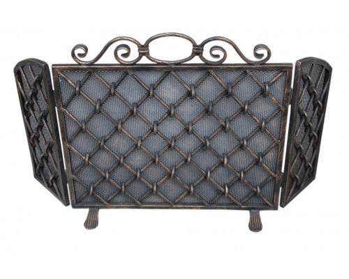 Кованая каминная решетка ручной работы