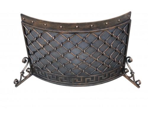 Кованая решетка для камина миандр