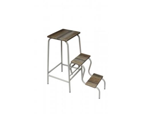 Барный стул (табурет) стремянка белая