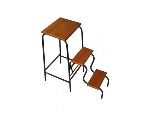 Лестница стул стремянка для дома ступени из натурального дерева черный каркас