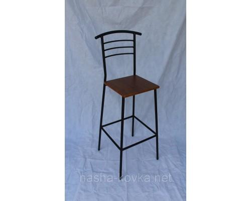 Высокий барный стул, сиденье - орех