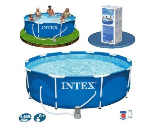 Бассейн каркасный Intex 28202 фильтр-насос 1250 л/ч