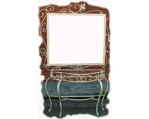 Кованое зеркало в ванную
