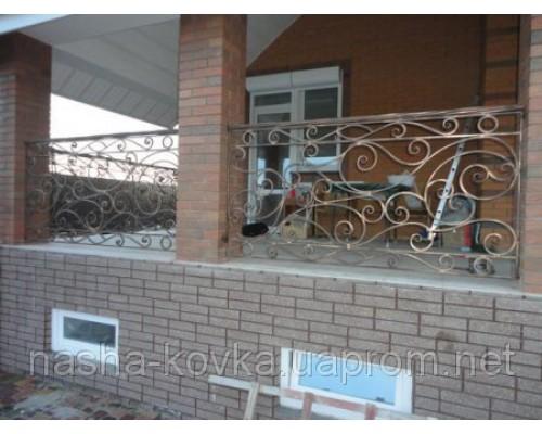 Балконное ограждения с художественной ковкой