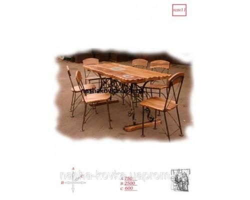 Столовый набор деревянный