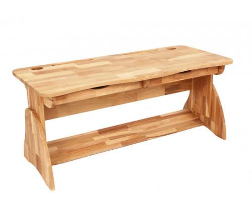 Двухместная парта-растишка-стол из натурального бука Mobler Р112-1