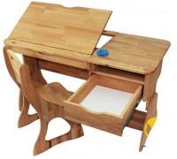 Комплект парта и стул из бука Р712+С300
