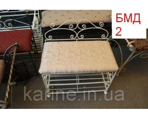 Банкетка белая кованая - БМД2