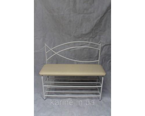 Банкетка белая со спинкой белая с мягким сиденьем