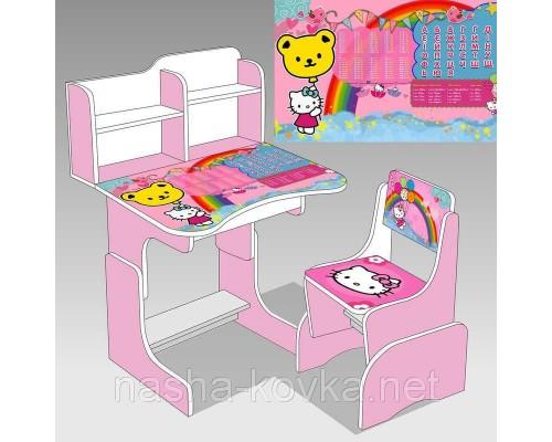 Парта школьная Hello Kitty ЛДСП ПШ 014