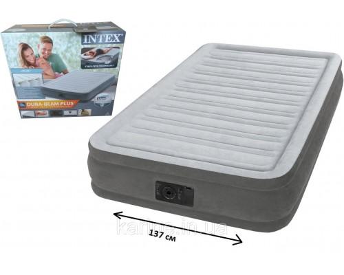 Надувная кровать с насосом Full Comfort-Plush полуторная Intex (Интекс) 67768