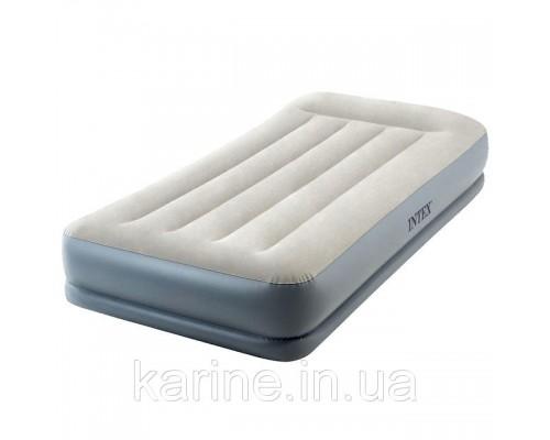 Надувная кровать со встроенным насосом INTEX Twin 99х191х30 см (64116)