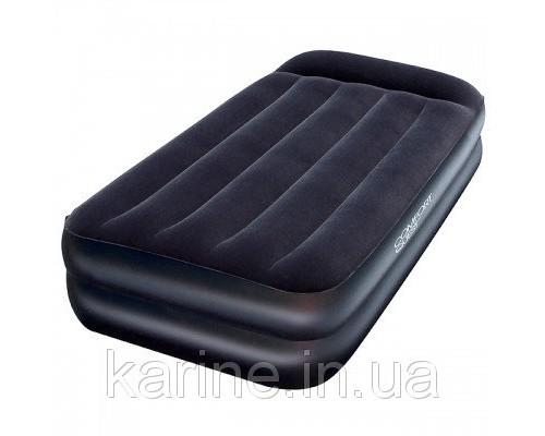 Надувная кровать с насосом Pillow Rest 99*191*42 см Intex 64122